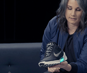 They're real. We slipped on Nike's HyperAdapt 1.0 self-lacing sneakers
