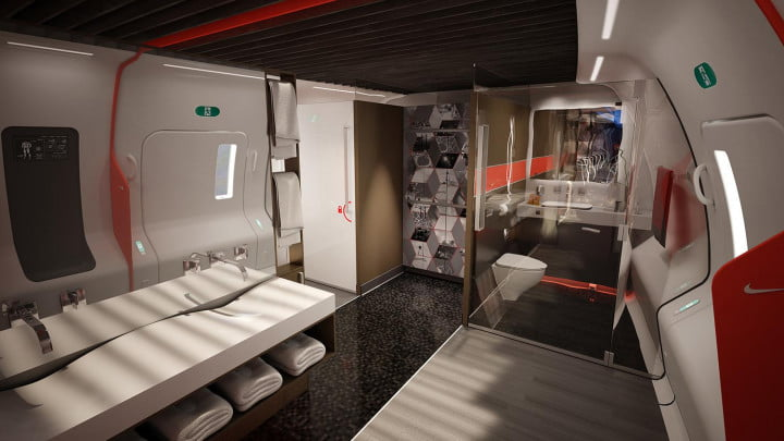 nikes latest fitness concept envisions private jet designed athletes nike teague home team advantage at  feet