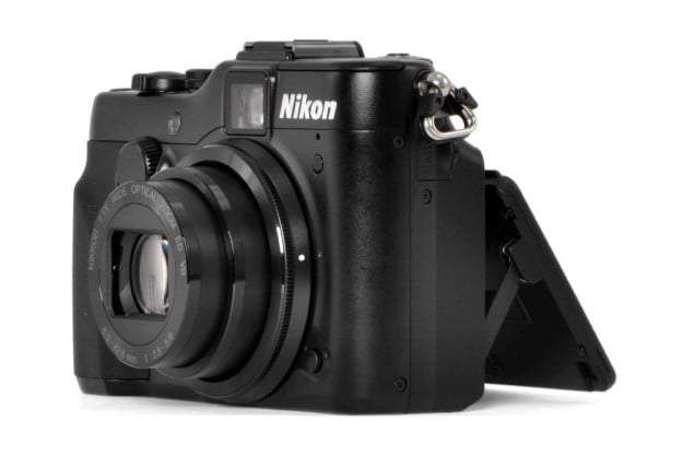 Nikon Coolpix P7100 digital camera review left side lcd screen angled