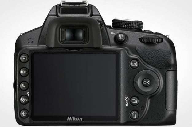 Nikon D3200 review back lcd screen buttons controls