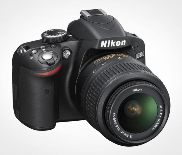 Nikon D3200 review front left body with lens 18mm to 55mm
