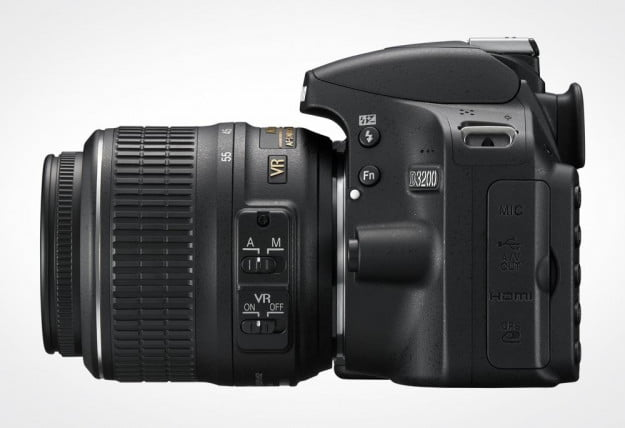 Nikon D3200 review side body with nikkor lens