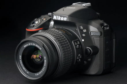Nikon D5300 front left angle