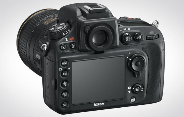 Nikon D800 DSLR Review back left angle digital camera pro