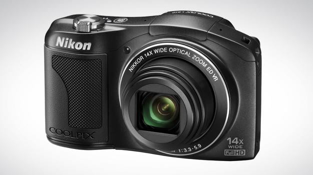 nikon l610 front angle point and shoot camera