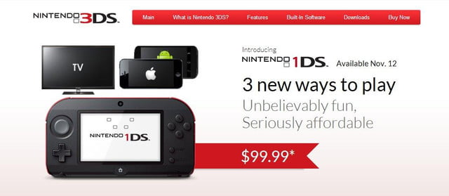 nintendo spoofs itself with  ds
