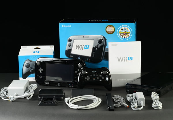 nintendo wii u out of box accessories gaming console
