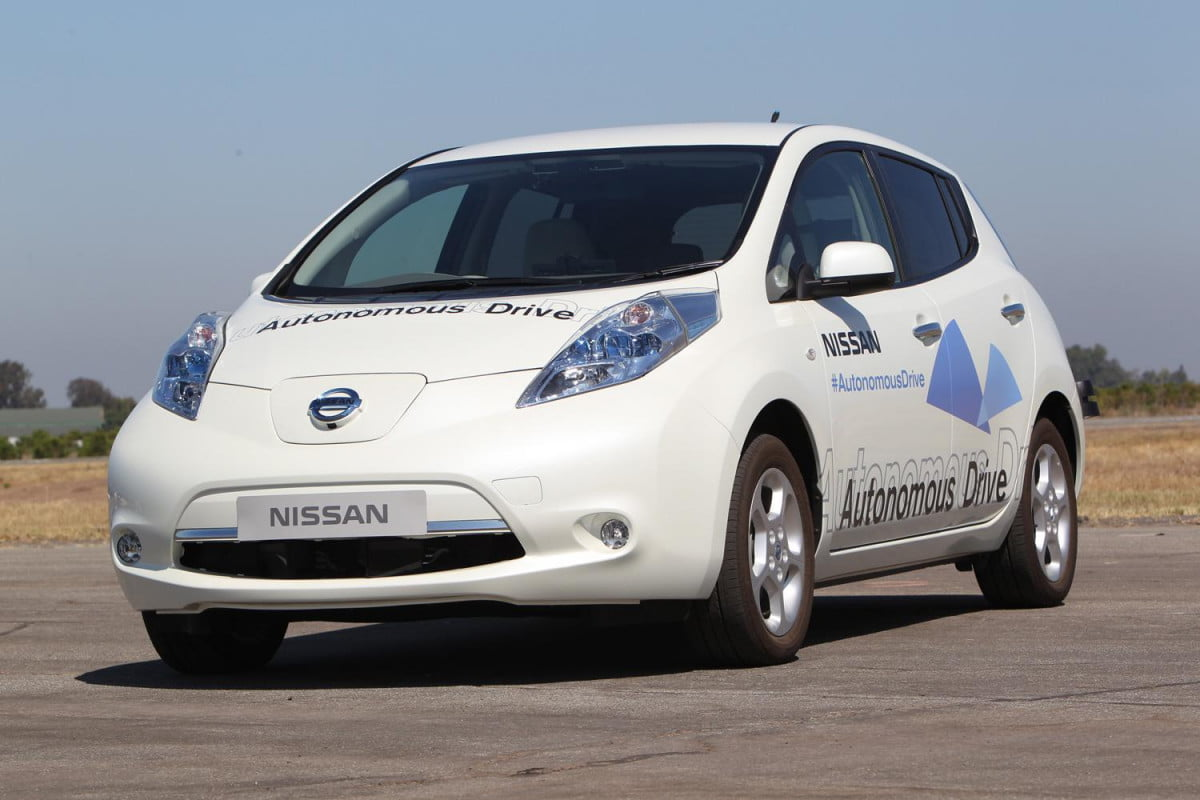 nissan pledges autonomous drive technology will be ready by  test leaf