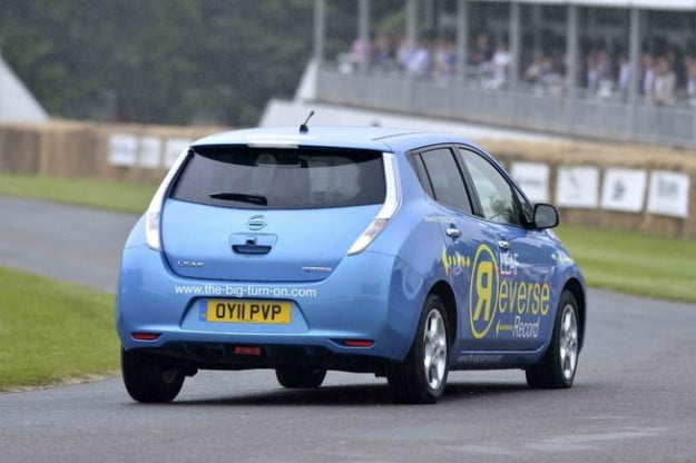 Nissan Leaf sets world record for fastest car in reverse