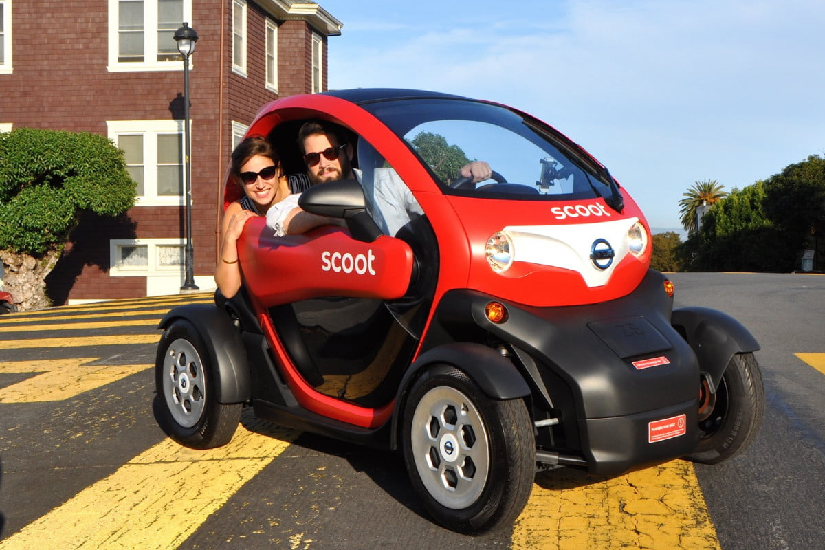 nissan tries car sharing with tiny electric vehicles scoot networks quad