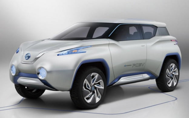 Nissan Terra concept front three-quarter view