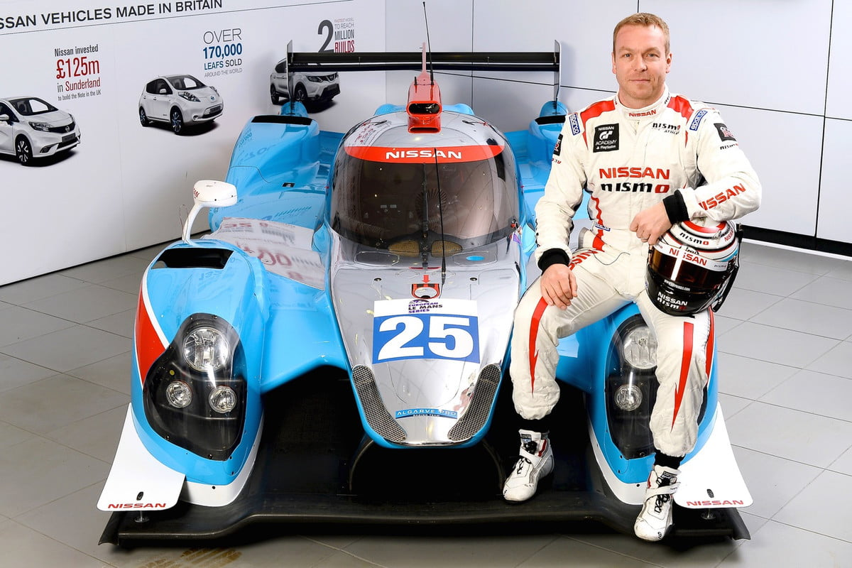 olympian chris hoy to race at  hours of le mans and nissan car