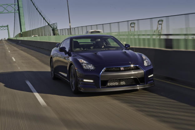 Nissan GT-R front three-quarter view
