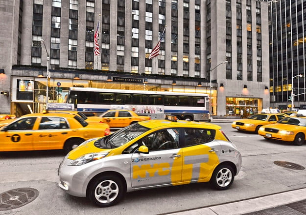 Nissan Leaf New York City Taxi