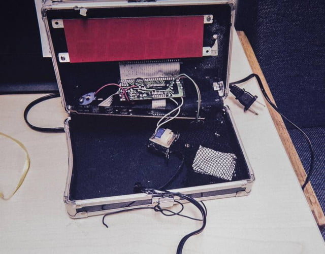 """The """"hoax bomb,"""" pictured."""