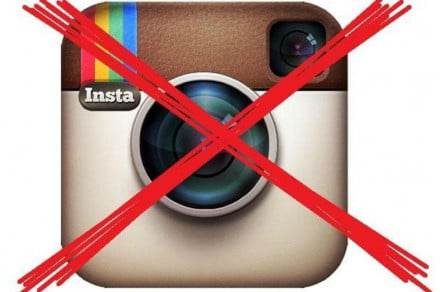 no instagram