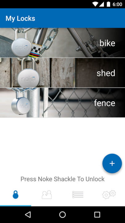 noke bluetooth padlock hands on app