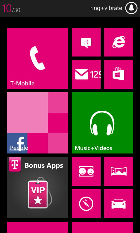 Nokia Lumia 810 review screenshot livetiles