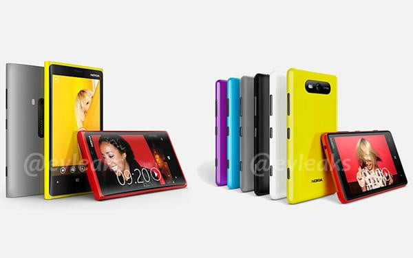 nokia lumia 920 and 820