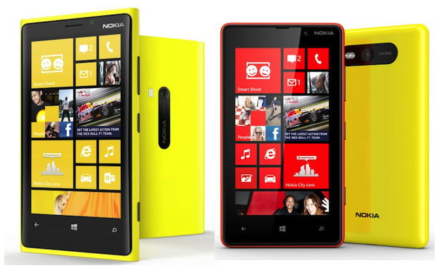 Nokia Lumia 920 and Lumia 820