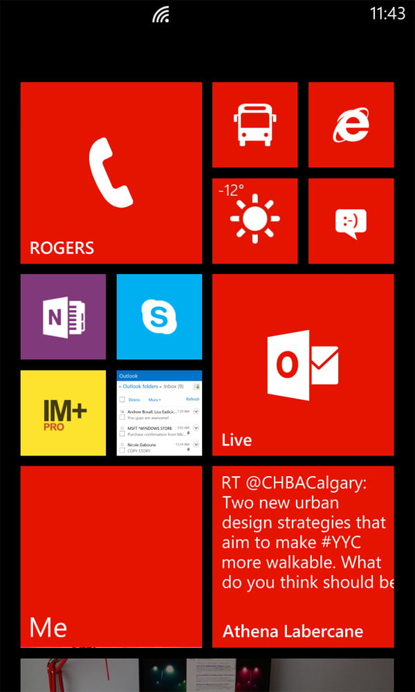 Nokia lumia 920 review screenshot homescreen