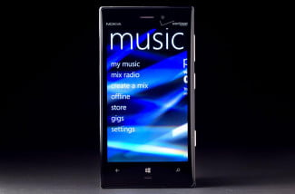 Nokia Lumia 928 music menu
