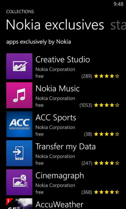 Nokia Lumia 928 screenshot exclusives