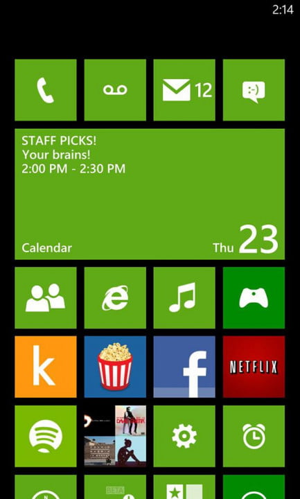 Nokia Lumia 928 screenshot AMOLED screen