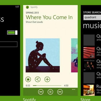 Nokia Lumia 928 screenshot spotify