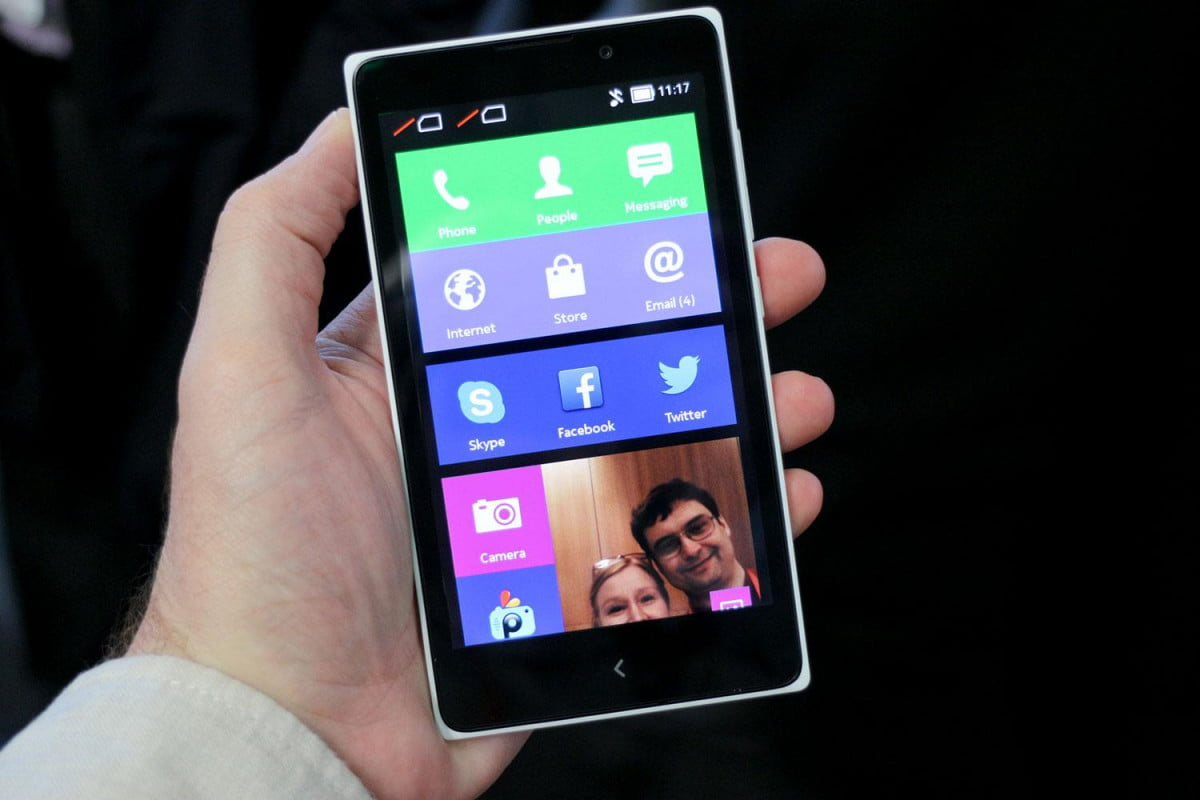 nokia x  android phone news series white apps