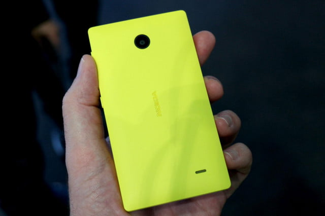 developer ports nokia x camera app android  devices series yellow back angle full