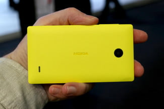Nokia X Series yellow back landscape