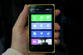 Nokia X Series yellow front apps 2