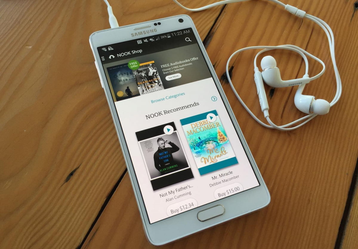 nook audiobooks app for android audiobook