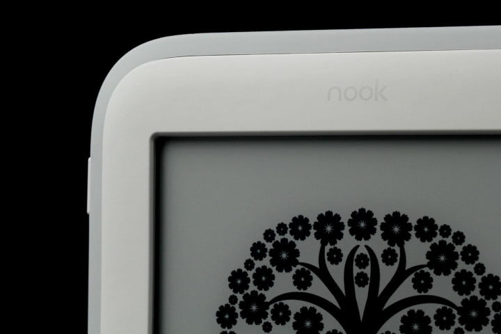 barnes noble nook glowlight review glow top screen angle corner