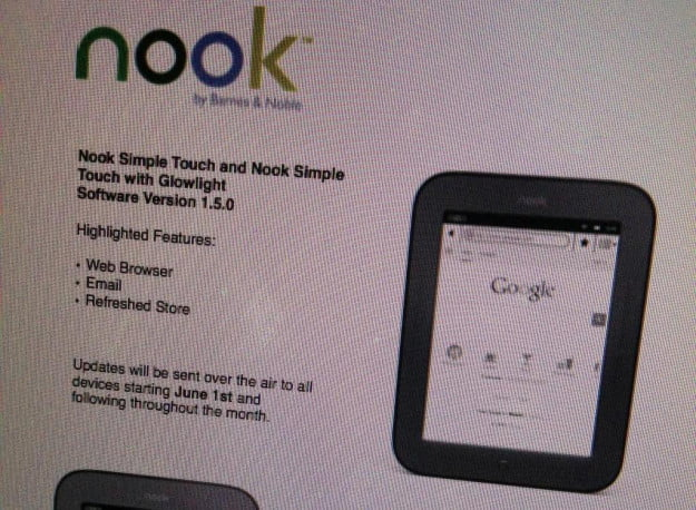 Nook Simple Touch Update