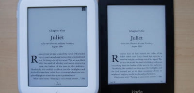 Nook and Kindle side by side