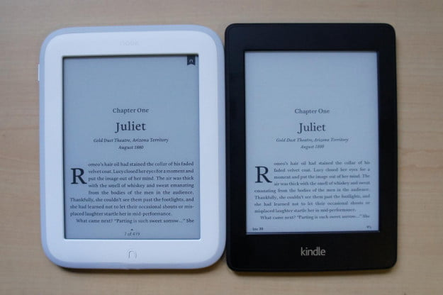 Nook vs Kindle screens