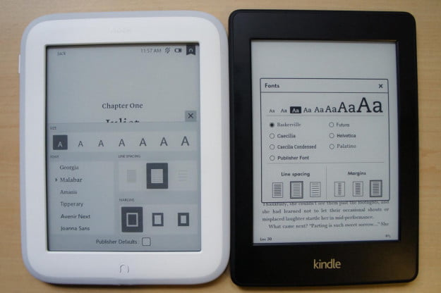 Nook vs Kindle Reading Options