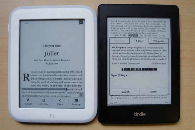 Nook vs Kindle X-Ray