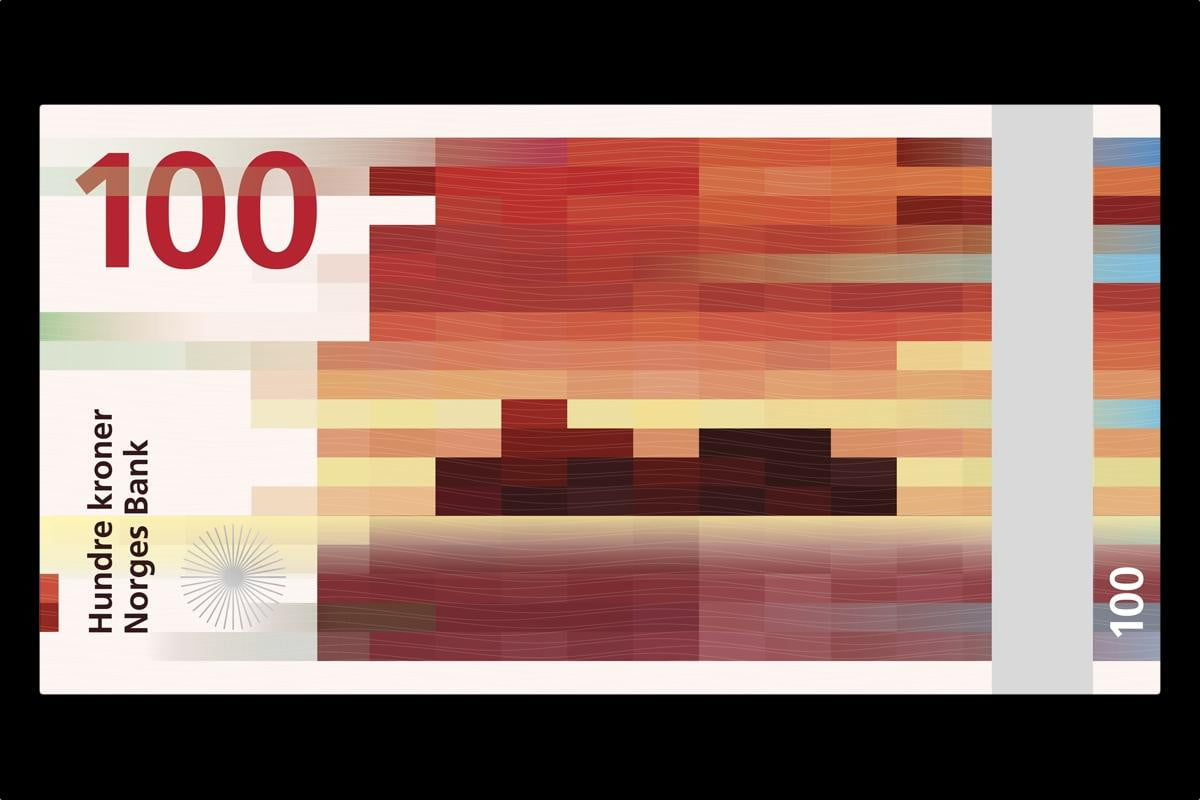 blending past future norway gets pixelated new series banknotes norges bank snohetta beauty boundaries
