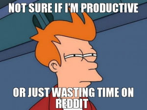 Wasting time on Reddit