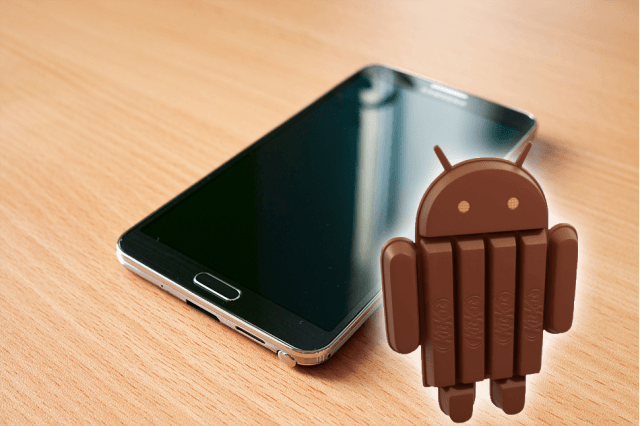 android  kitkat begun rolling samsung note