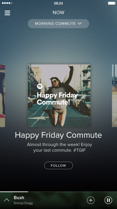 spotify adds video podcasts and running music features now commute screenshot