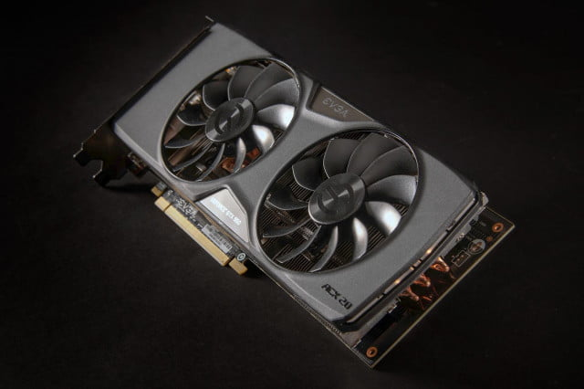 evga low power gtx  graphics cards nvidia back angle