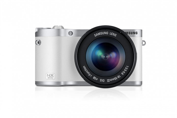 samsung nx  smart camera unveiled ahead of ces front with lens white