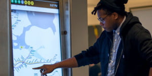 nyc touchscreen displays
