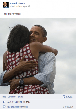 obama four more years facebook post