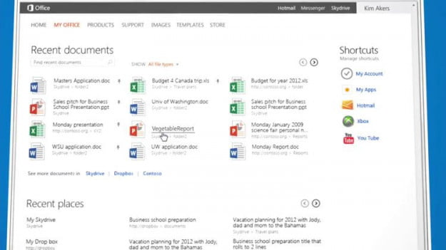 office 365 2012 documents