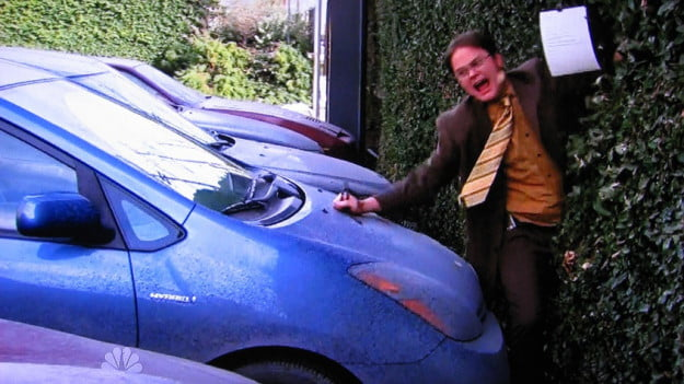 office-dwight-prius-hybrid-quiet